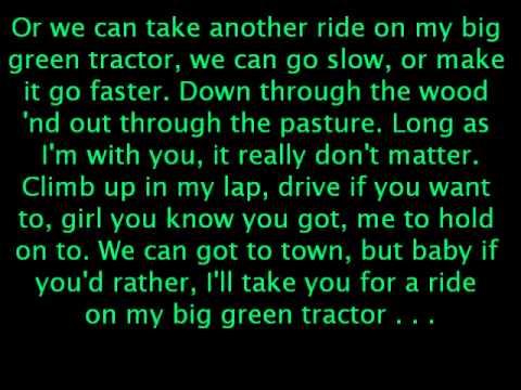 Jason aldean lyrics big green tractor