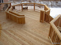 Sealing a new deck