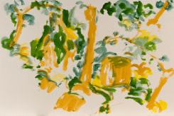 Hans van Hoek, Waterfall Tree-Rock (oker/terre/green)