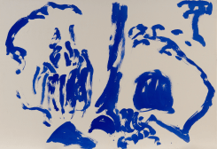 Hans van Hoek, Waterfall Tree-Rock (blue)