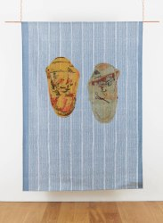 Shezad Dawood, PAIR OF MOCCASIN SHOES WITH LACES, NUMBER 43; RUBB