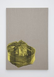 Gavin Turk, Bin Bag on Linen (Yellow)