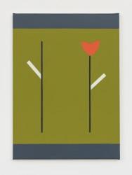 Jan Roeland, Compositie met tak en bloem