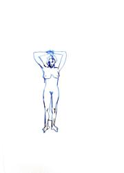 Stephan Balkenhol, Drawing Nude