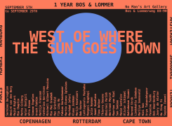 west of where the sun goes down, Sam Samiee, Marilyn Sonneveld, Buhlebezwe Siwani, Afra Eisma, Majid Biglari, Mia Chaplin, Desiré van den Berg, Jamal Nxedlana, Arash Fakhim, Fabian Herkenhoener, Lindokuhle Sobekwa, Bertrand Peyrot