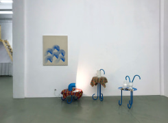 Huis, auto, hond, tulp, Elvire Bonduelle