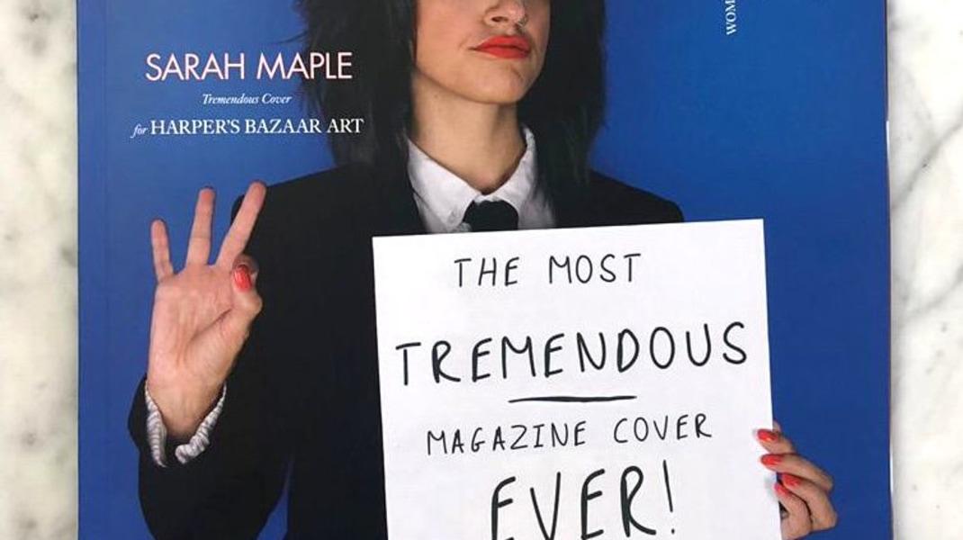 Sarah Maple, Cover voor Harper's Bazaar Limited Edition Magazine 2019