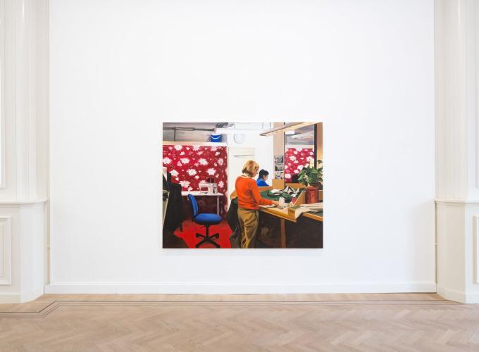 A Woman Sewing, Caroline Walker,
