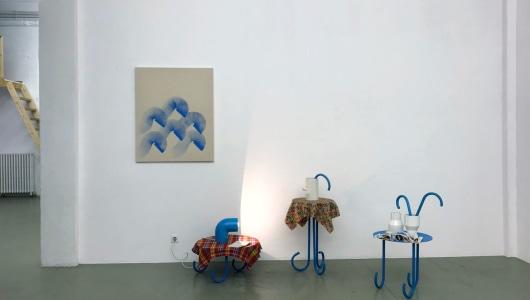Huis, auto, hond, tulp, Elvire Bonduelle, Galerie van Gelder