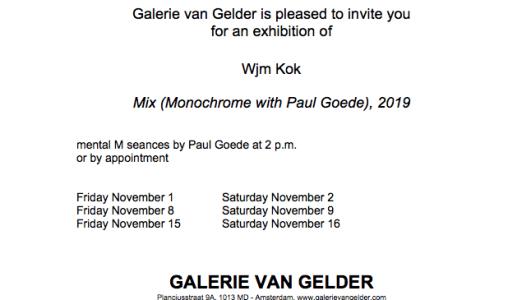 Mix (Monochrome with Paul Goede), 2019, Wjm Kok, Galerie van Gelder