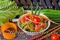 Диетический салат с пекинской капустой рецепт