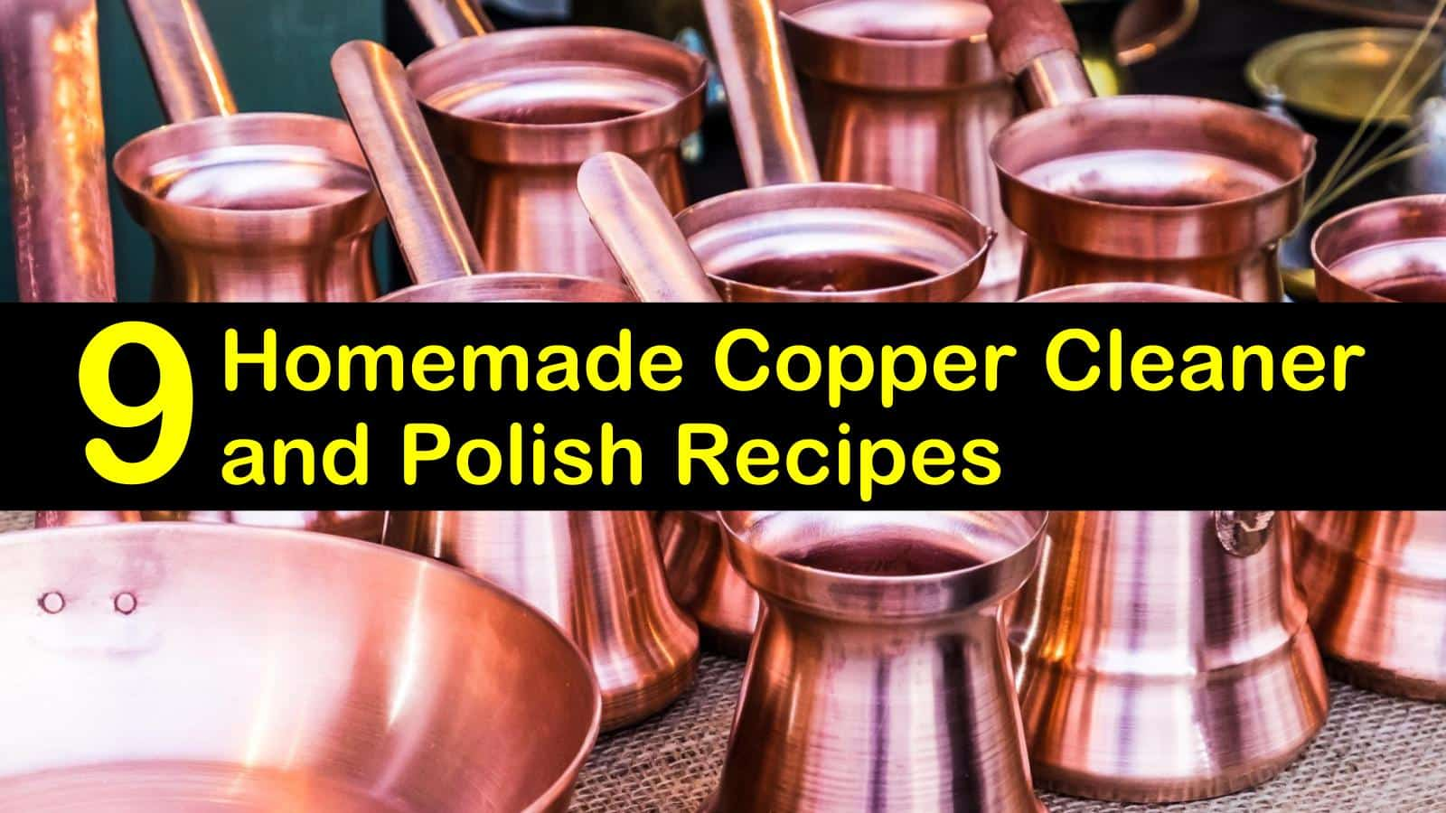 Copper cleaner and sealer