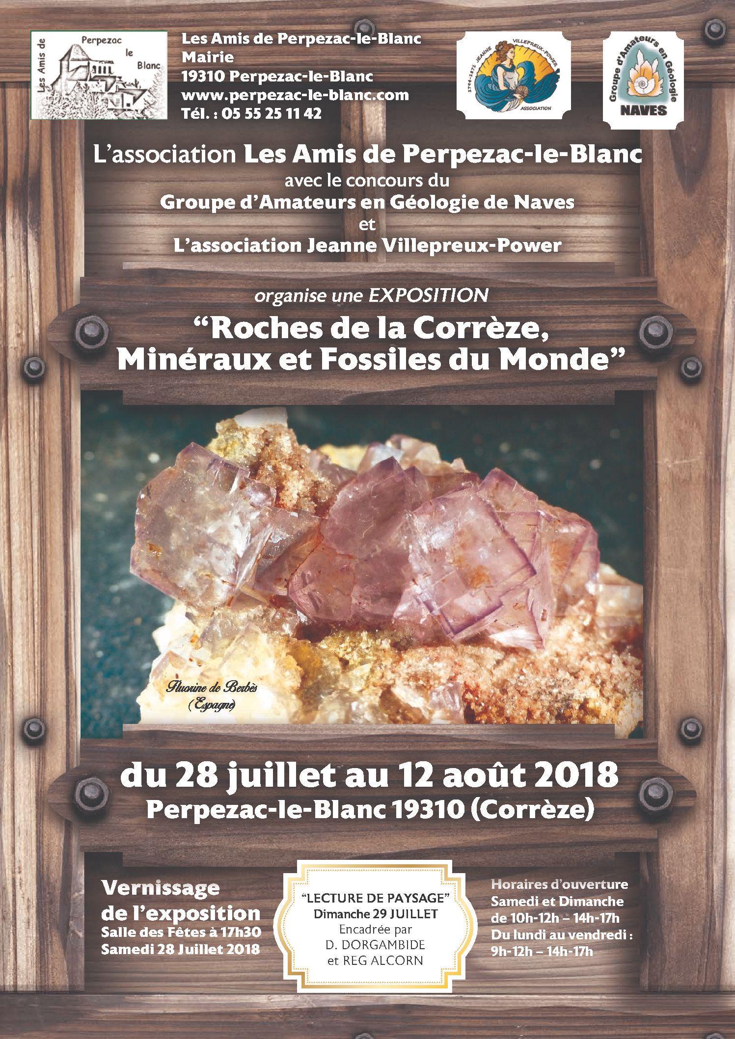 La géologie s'invite à Perpezac le blanc du 28 juillet au 12 août 2018