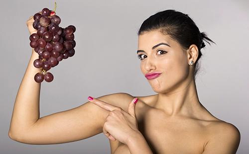 Маска для лица из винограда белого