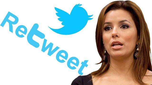 Eva longoria twitter mistake