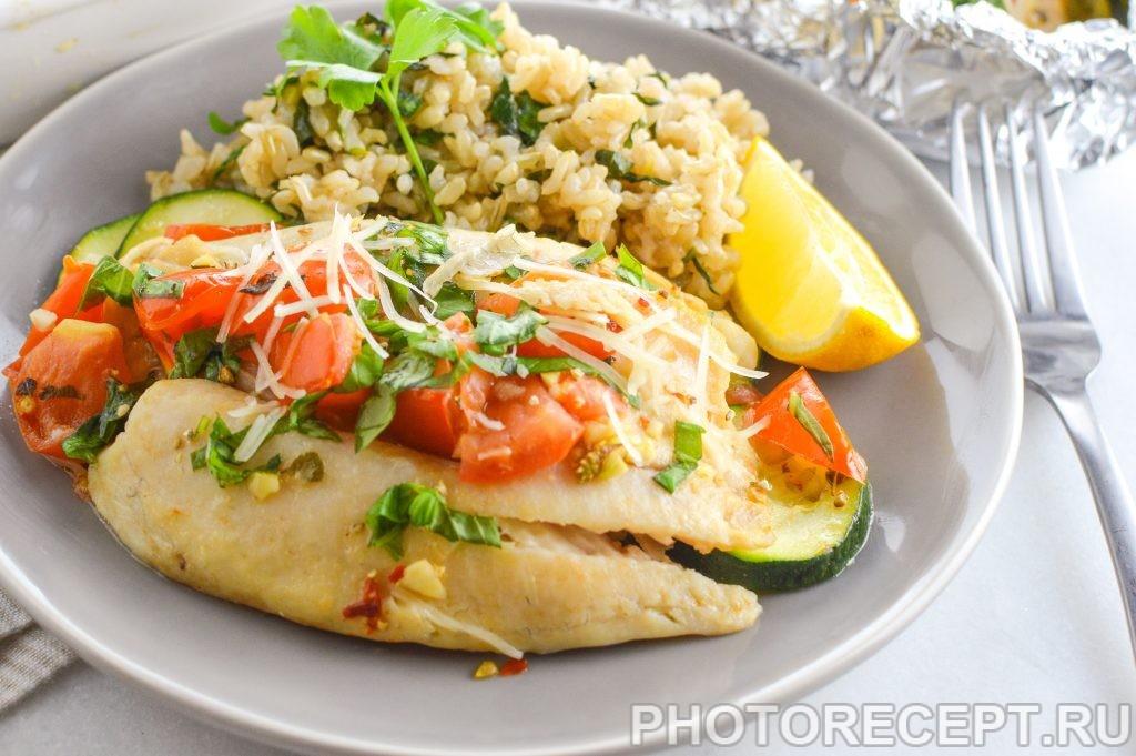 Рыба в фольге в духовке рецепт с рисом
