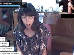 CHATROULETTE - русские девушки Big Cock Reactions 3