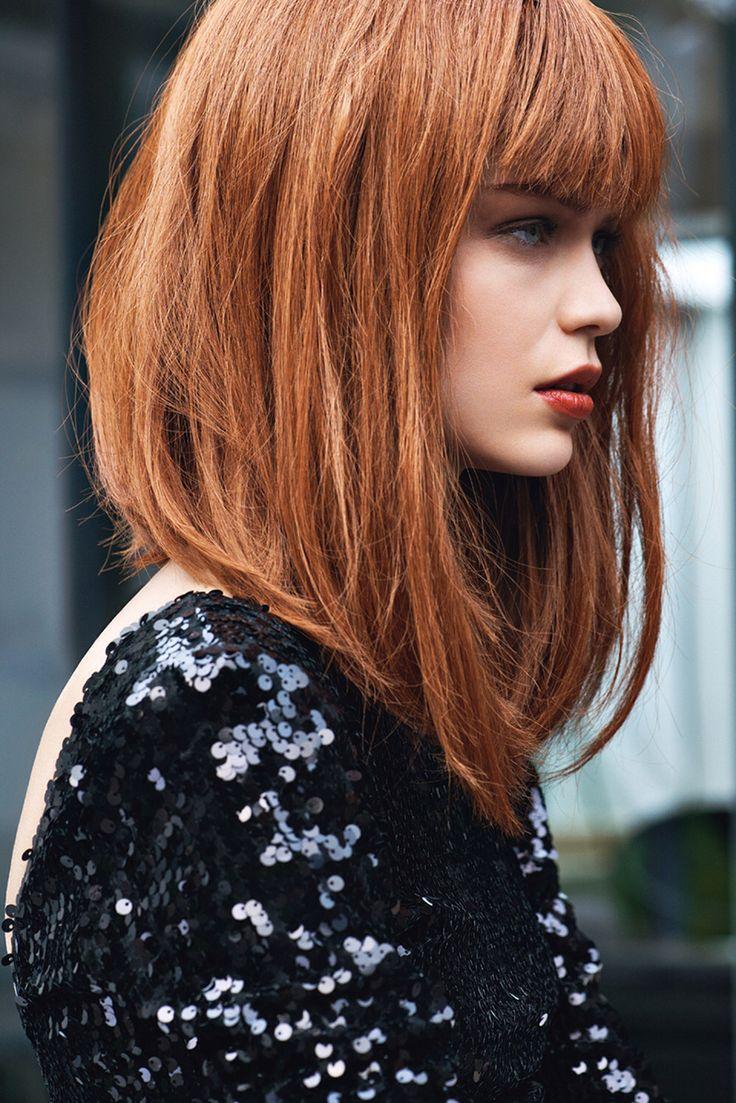 Модный цвет волос рыжий