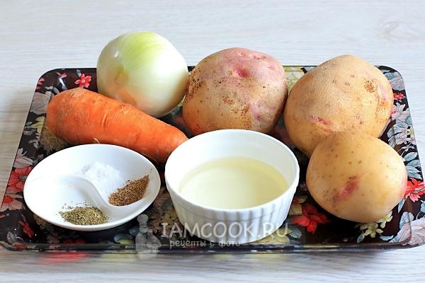 Картошка тушеная без мяса в кастрюле