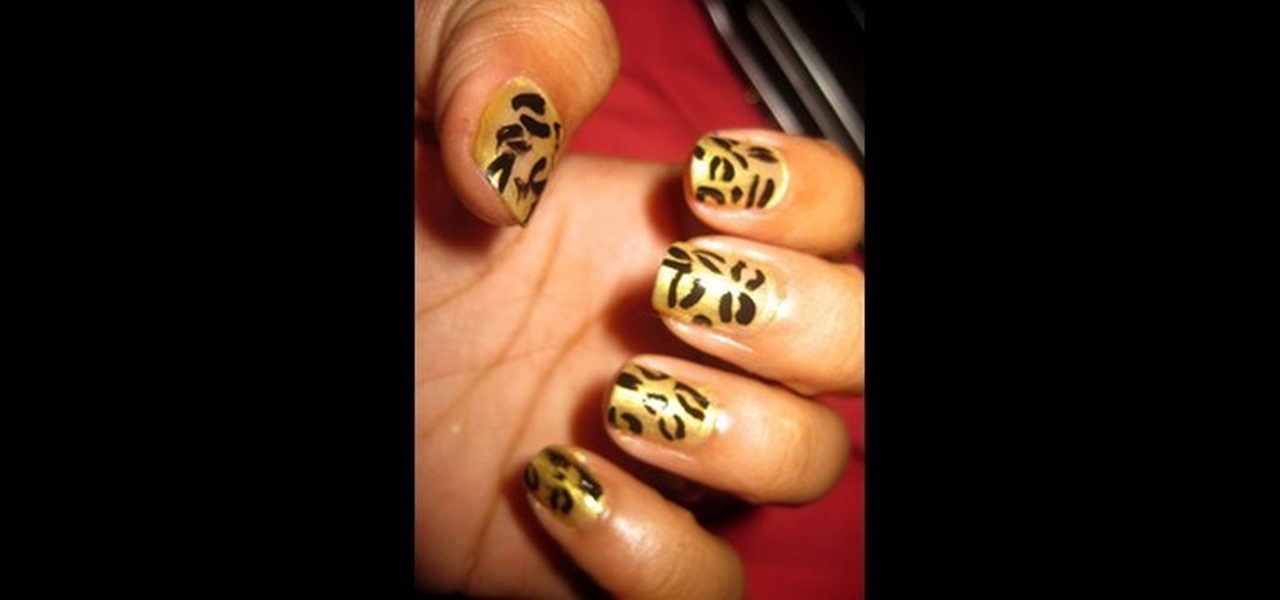 How to paint cheetah nails