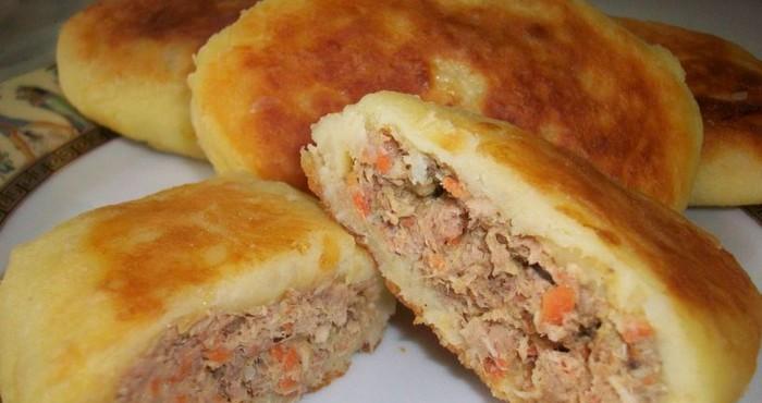 Картофельные зразы с мясом в духовке