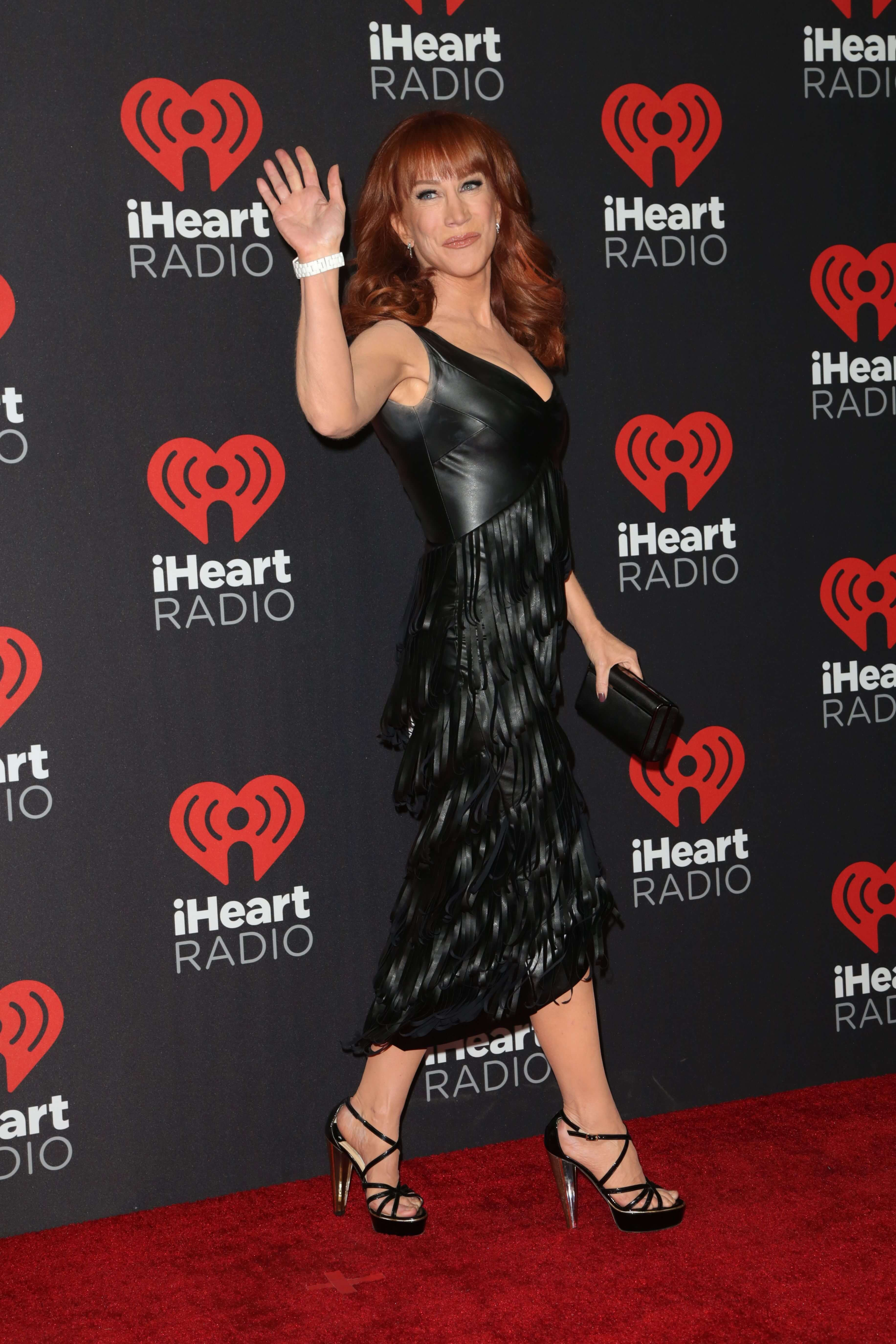 Kathy Griffin sexy long black dress