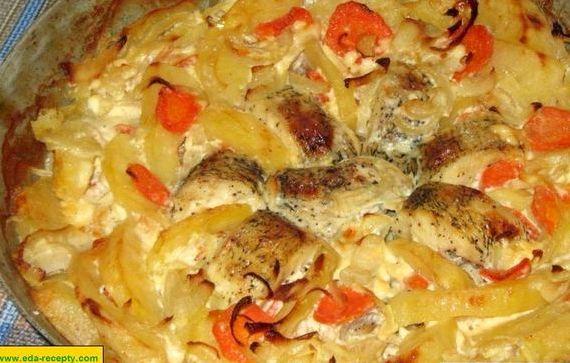 Карп в духовке рецепт с фото в фольге с картошкой