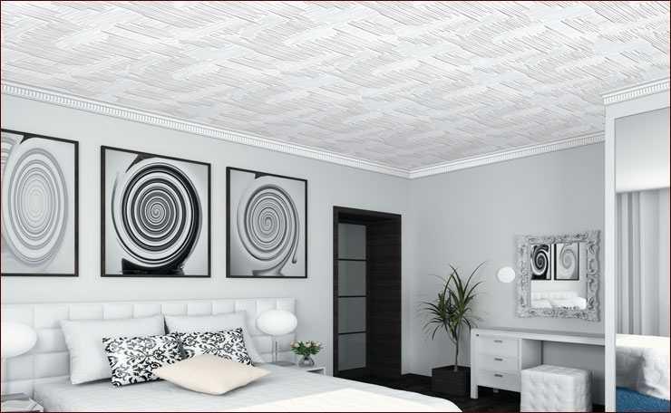 Клееные потолки из потолочной плитки