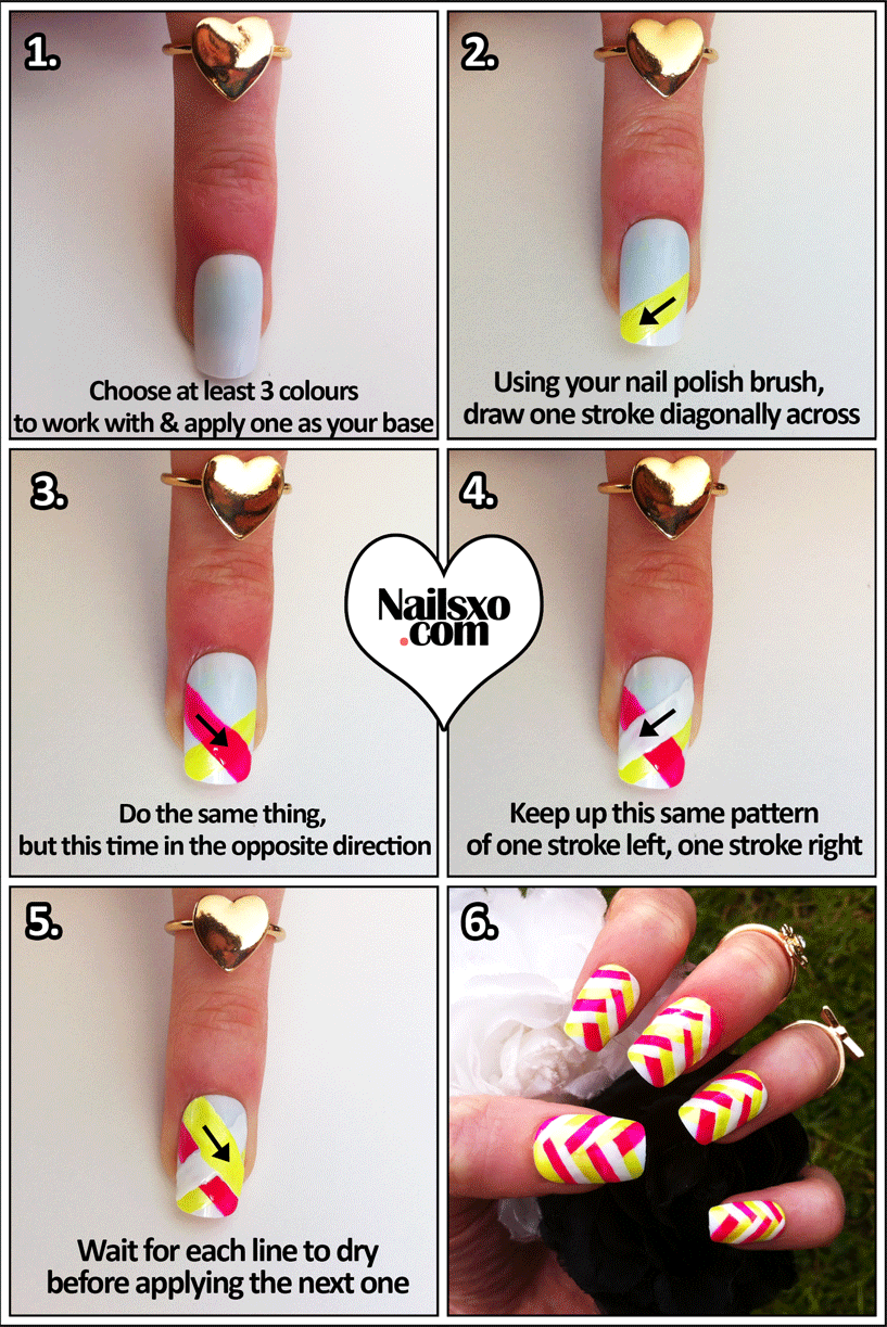 Step by step nails design