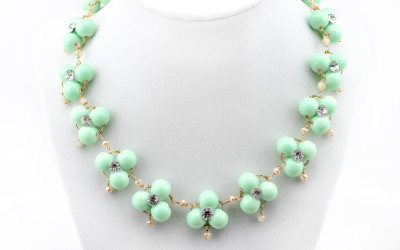 DIY J. Crew Inspired Mint Necklace