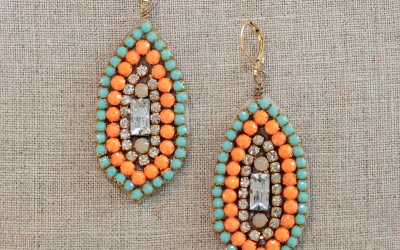 DIY Rhinestone Marquis Drop Earrings