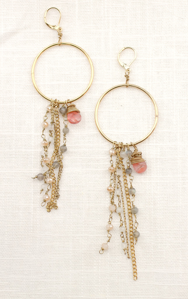 DIY Anthro-Inspired Fringed Hoops by jamie b. hannigan