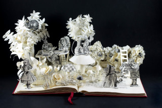 Book Sculpture: Alice in Wonderland 2.0
