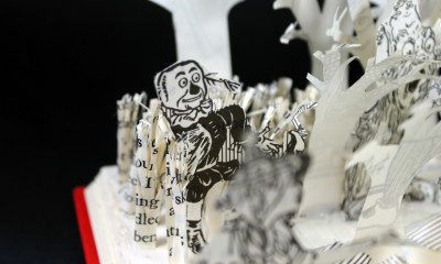 Scarecrow - Wizard of Oz Book Sculpture by Jamie B. Hannigan
