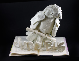 Book Sculpture: Project Junebug (Custom Request)
