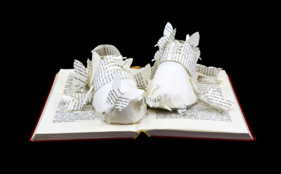Main View - Lolita - Custom Book Sculpture by Jamie B. Hannigan