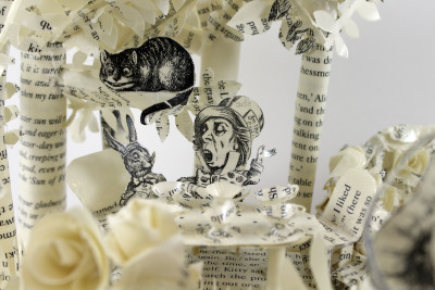 Mad Hatter - Alice in Wonderland Book Sculpture by Jamie B. Hannigan