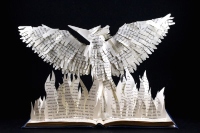 jamie b hannigan mockingjay book sculpture - reverse