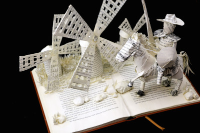 Custom Book Sculpture by Jamie B. Hannigan - Don Quixote of the Mancha - View 2
