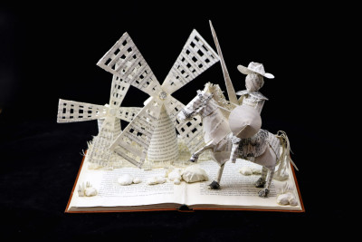Custom Book Sculpture by Jamie B. Hannigan - Don Quixote of the Mancha - View 4