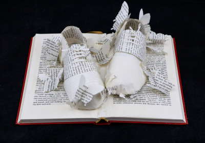Above View 2 - Lolita - Custom Book Sculpture by Jamie B. Hannigan