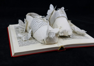 Side View - Lolita - Custom Book Sculpture by Jamie B. Hannigan