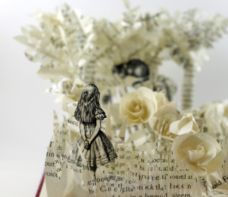 Alice - Alice in Wonderland Book Sculpture by Jamie B. Hannigan