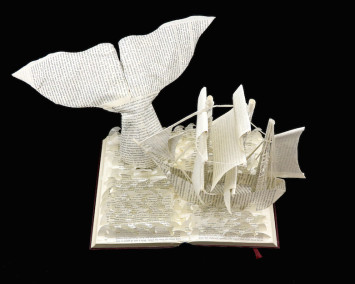 Moby Dick Custom Book Sculpture top view 1
