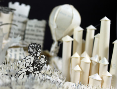Dorothy - Wizard of Oz Book Sculpture by Jamie B. Hannigan