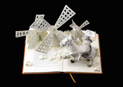 Custom Book Sculpture by Jamie B. Hannigan - Don Quixote of the Mancha - From Above
