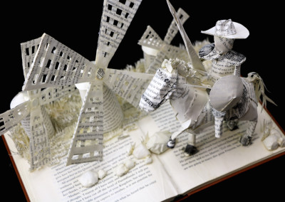 Custom Book Sculpture by Jamie B. Hannigan - Don Quixote of the Mancha - View 3