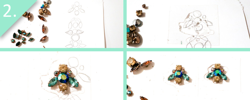 Jamie B. Hannigan - DIY J.Crew Inspired Sparkle Earrings - Step 2