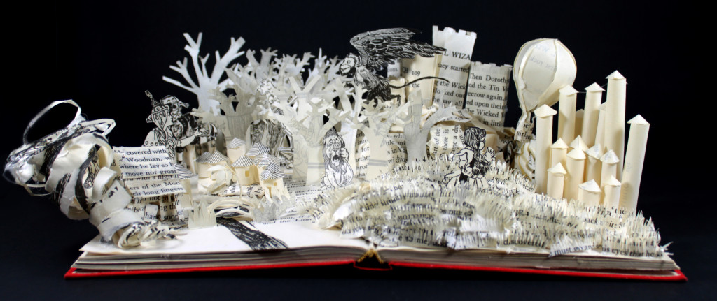 Wizard of Oz Book Sculpture by Jamie B. Hannigan