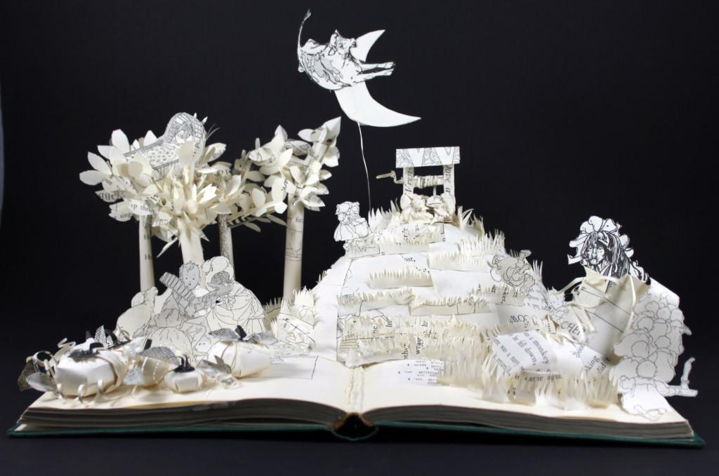 Nursery Rhymes Book Sculpture by Jamie B. Hannigan